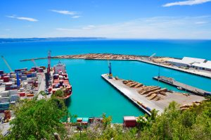A view of Napier Port from Bluff Hill