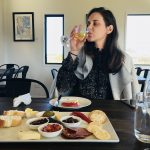 Wine & a platter at a Hawke's Bay winery